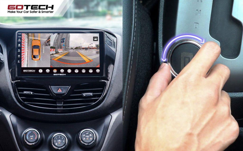 Camera 360 độ ô tô thao tác thuận tiện, dễ dàng.