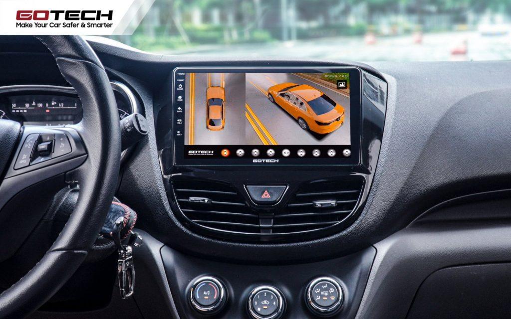 Camera 360 ô tô Gotech đa dạng góc nhìn quan sát.