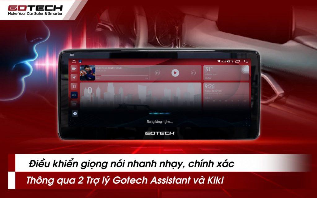 Mở mọi tác vụ trên màn hình Gotech GT Mazda bằng khẩu lệnh đơn giản.
