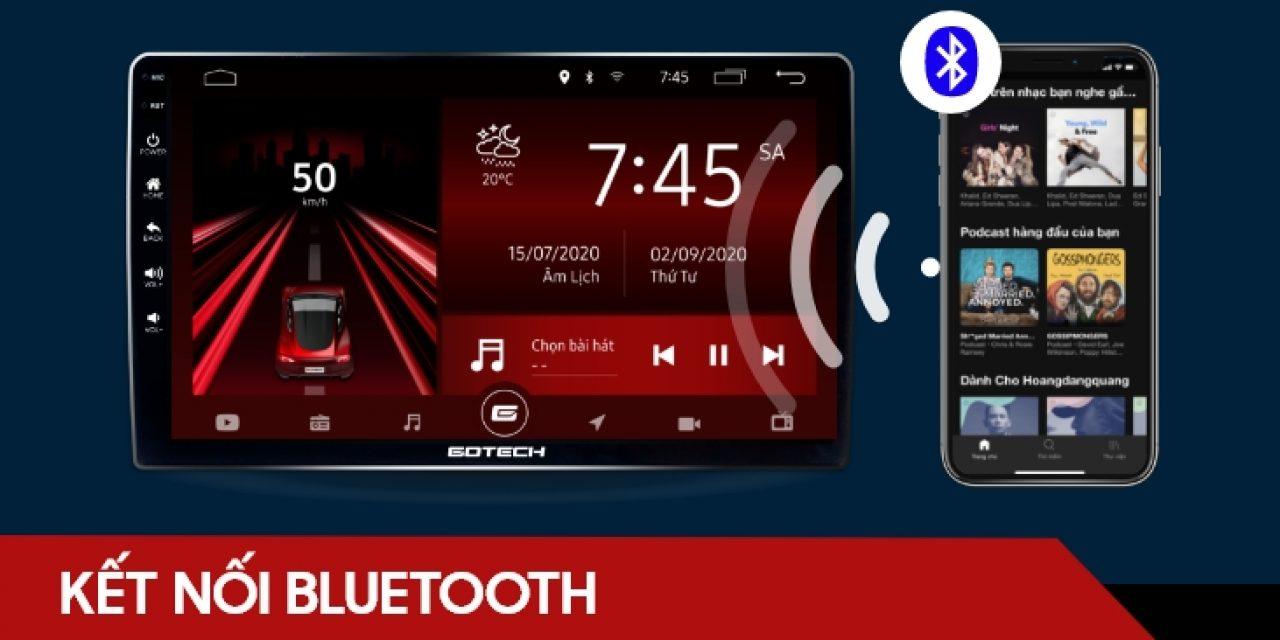 Hướng dẫn kết nối Bluetooth từ điện thoại lên màn hình ô tô thông minh GOTECH