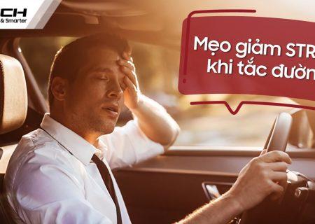 giảm stress khi tắc đường