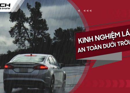 lái xe ô tô trời mưa