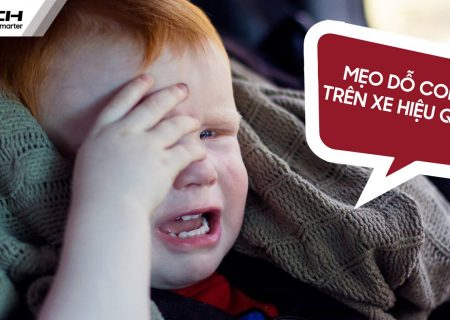 Trẻ quấy khóc khi đi xe ô tô